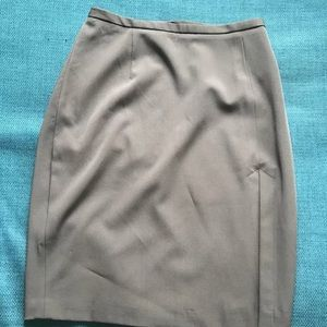 French Connection Grey Slit Skirt Small